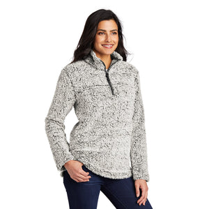 Port Authority ® Ladies Cozy 1/4-Zip Fleece - Grey Heather
