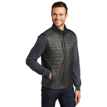 Load image into Gallery viewer, Port Authority ® Packable Puffy Vest-Sterling Grey/ Graphite
