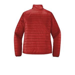 Port Authority ® Ladies Packable Puffy Jacket - Fire Red/ Graphite