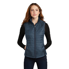 Load image into Gallery viewer, Port Authority ® Ladies Packable Puffy Vest - Regatta Blue/ River Blue