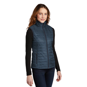 Port Authority ® Ladies Packable Puffy Vest - Regatta Blue/ River Blue