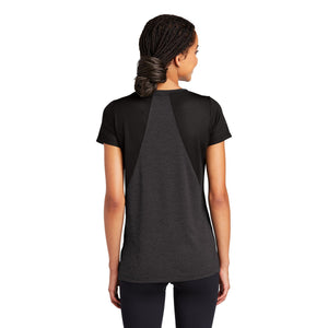 Sport-Tek ® Ladies Endeavor Tee - Black Heather/ Black