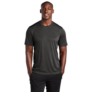 Sport-Tek ® Endeavor Tee - Black Heather/ Black