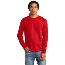 Load image into Gallery viewer, Champion ® Heritage 5.2-Oz. Jersey Long Sleeve Tee - Red