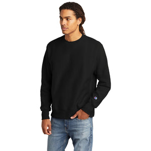 Champion ® Reverse Weave ® Crewneck Sweatshirt-BLACK