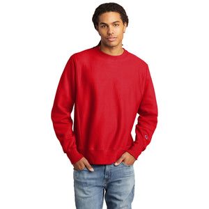 Champion ® Reverse Weave ® Crewneck Sweatshirt-RED