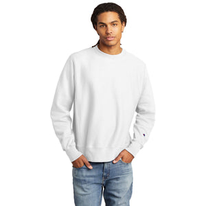 Champion ® Reverse Weave ® Crewneck Sweatshirt-WHITE