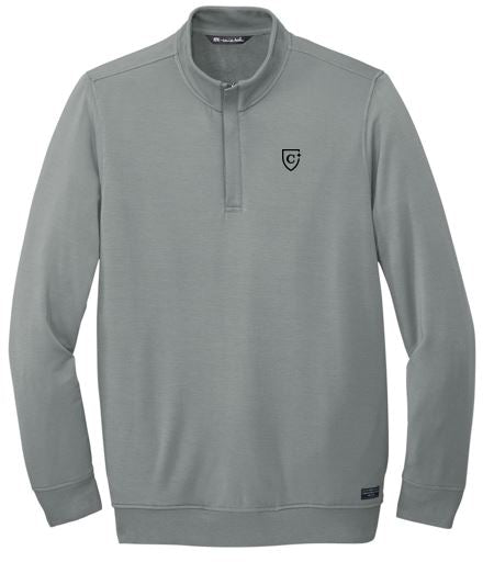 CAPELLA Travis Mathew Newport 1/4-Zip Fleece - Quiet Shade Grey