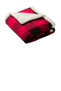 CAPELLA Flannel Sherpa Blanket - Buffalo Plaid