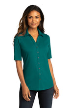 Load image into Gallery viewer, CAPELLA Ladies City Stretch Top - Teal