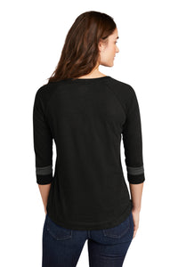 CAPELLA ALUMNI New Era ®Ladies Tri-Blend 3/4-Sleeve Tee - Black Solid/ Graphite
