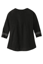 Load image into Gallery viewer, CAPELLA ALUMNI New Era ®Ladies Tri-Blend 3/4-Sleeve Tee - Black Solid/ Graphite
