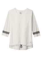 Load image into Gallery viewer, CAPELLA New Era ® Ladies Tri-Blend 3/4-Sleeve Tee - Fan White Solid/ Shadow Grey