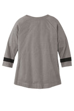 Load image into Gallery viewer, CAPELLA ALUMNI New Era ®Ladies Tri-Blend 3/4-Sleeve Tee - Shadow Grey/ Black Solid