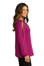 Load image into Gallery viewer, CAPELLA Ladies Luxe Knit Jewel Neck Top - Wild Berry