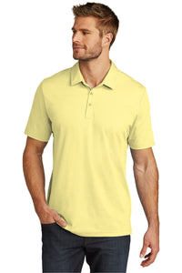 CAPELLA Travis Mathew Oceanside Heather Polo - Pale Banana Heather