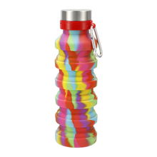 Load image into Gallery viewer, Zigoo Silicone Collapsible Bottle 18oz - Tie-Dye
