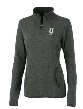 WOMEN'S HEATHERED FLEECE PULLOVER-CHARCOAL HEATHER
