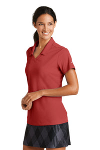 Nike Ladies Dri-FIT Micro Pique Polo - Varsity Red