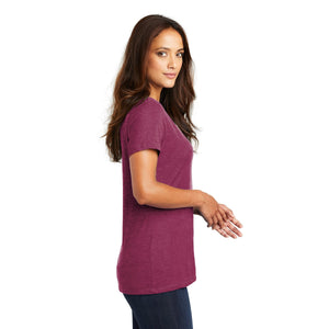 District ® Women's Perfect Weight ® V-Neck Tee - Heathered Loganberry