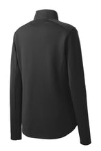 Load image into Gallery viewer, Sport-Tek® Ladies Sport-Wick® Textured 1/4-Zip Pullover - Black