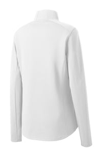 Sport-Tek® Ladies Sport-Wick® Textured 1/4-Zip Pullover - White