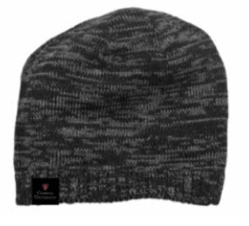Spaced-Dyed Beanie- Black/ Charcoal