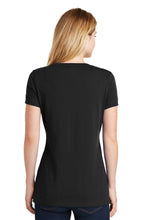 Load image into Gallery viewer, New Era® Ladies Heritage Blend V-Neck Tee - Black