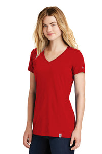 New Era® Ladies Heritage Blend V-Neck Tee - Scarlet