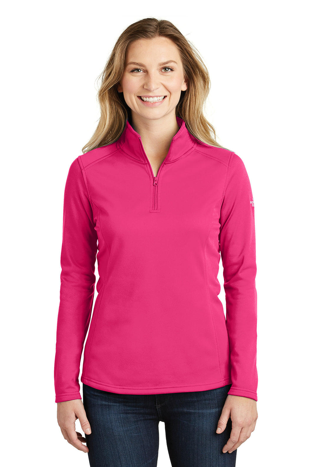 The North Face® Ladies Tech 1/4-Zip Fleece - Petticoat Pink
