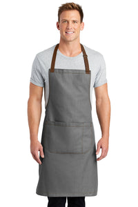 CAPELLA Full-Length Bib Apron - Ash Grey