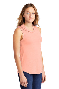 District ® Women's Perfect Tri ® Sleeveless Hoodie - Heathered Dusty Peach