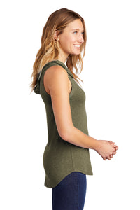 District ® Women's Perfect Tri ® Sleeveless Hoodie - Military Green Frost