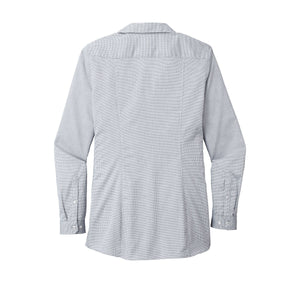 Port Authority ® Ladies Pincheck Easy Care Shirt - Gusty Grey/ White