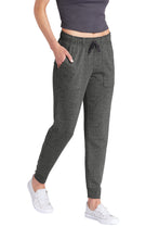 Load image into Gallery viewer, Sport-Tek ® Ladies PosiCharge ® Tri-Blend Wicking Fleece Jogger - Dark Grey Heather