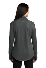 Load image into Gallery viewer, New Era ® Ladies Sueded Cotton Blend Cowl Tee - Black Heather