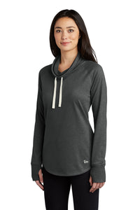 New Era ® Ladies Sueded Cotton Blend Cowl Tee - Black Heather