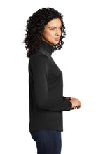 Load image into Gallery viewer, Port Authority ® Ladies Silk Touch ™ Performance 1/4-Zip - Black/ Steel Grey