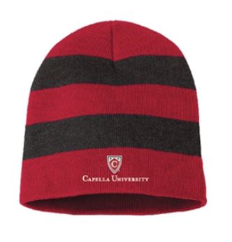 CAPELLA UNIVERSITY KNIT BEANIE - RED/GRAY