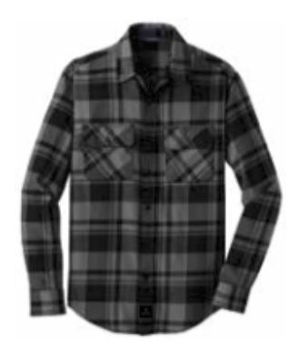 Port Authority® Plaid Flannel Shirt- BLACK/GREY