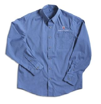 Port Authority® Crosshatch Easy Care Shirt -NAVY FROST
