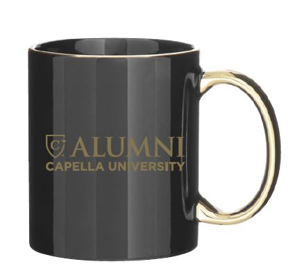 CAPELLA ALUMNI C-Handle Metallic Mug - Black/Gold