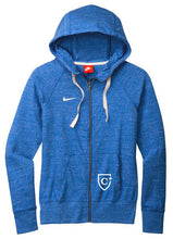 Load image into Gallery viewer, CAPELLA Nike Ladies Gym Vintage Full-Zip Hoodie - Team Royal