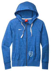 CAPELLA Nike Ladies Gym Vintage Full-Zip Hoodie - Team Royal