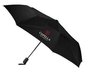 "CAPELLA 42"" Heathered Strap Auto Open Umbrella -BLACK"