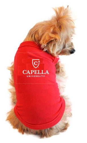 CAPELLA Doggie Skins™ 100% Combed Ringspun Cotton 1x1 Baby Rib Dog Tank Top - RED