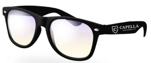 CAPELLA Blue Light Blocking Retro Glasses - Black