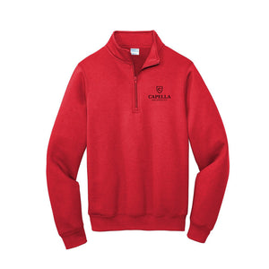 Port & Company ® Core Fleece 1/4-Zip Pullover Sweatshirt-RED