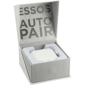 Essos True Wireless Auto Pair Earbuds w/Case