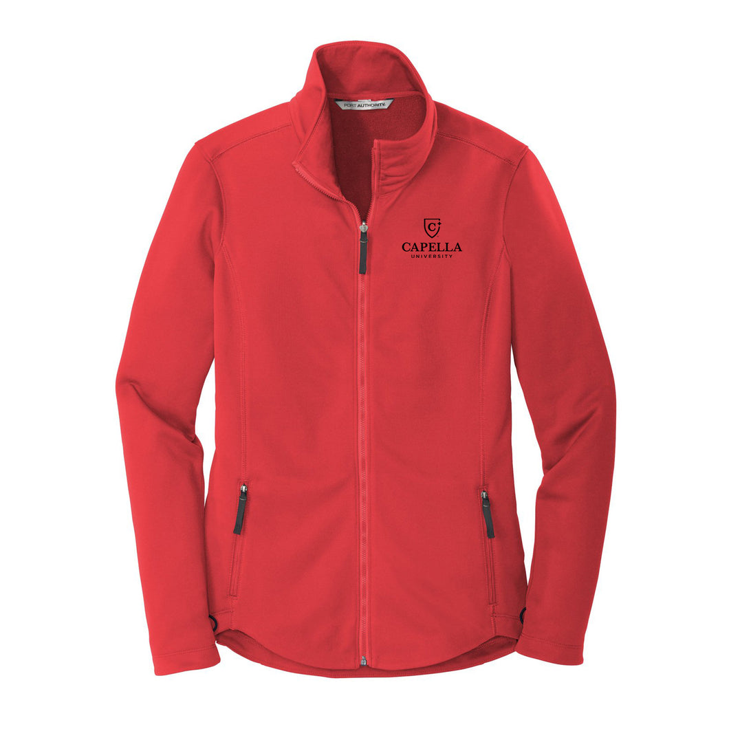 Port Authority ® Ladies Collective Smooth Fleece Jacket - Red Pepper